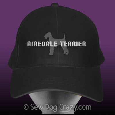 Embroidered Airedale Hat