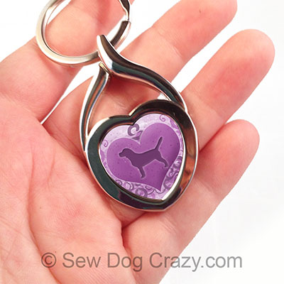 Purple Beagle Keychain