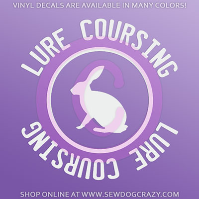 Lure Coursing Car Decal