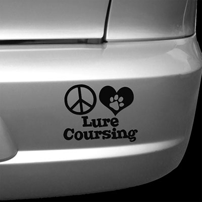 Peace Love Lure Coursing Car Decals