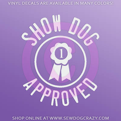 Show Dog Car Decal