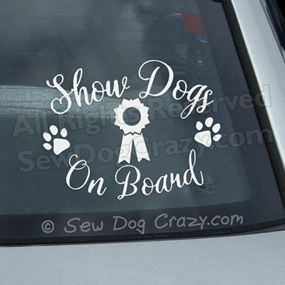 Show Dogs On Board Window Sticker