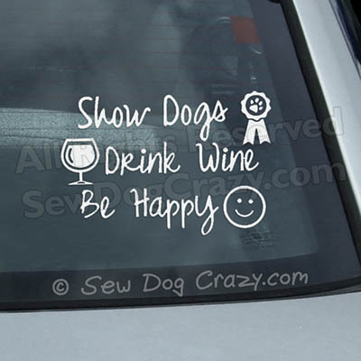 Dog Show Decals