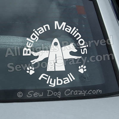 Malinois Flyball Car Sticker