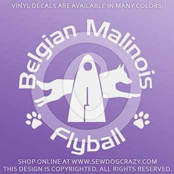 Belgian Malinois Flyball Decal