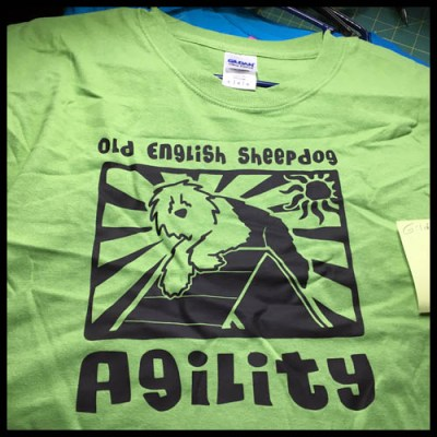 Old English Sheepdog Agility Tshirt