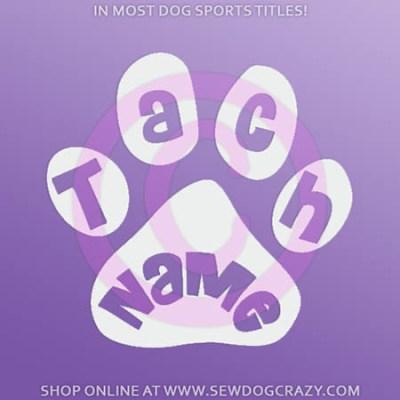 Custom Dog Sports Title Sticker