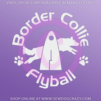 Border Collie Flyball Sticker