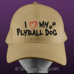 Embroidered I Love My Flyball Dog Hat