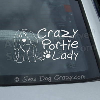 Crazy Portie Lady Car Window Sticker