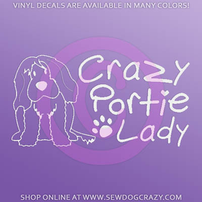 Portuguese Water Dog Car Window Sticker