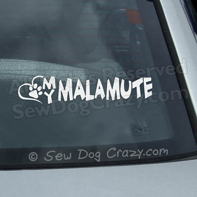 Love My Malamute Car Window Sticker