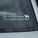 Funny Toller Car Window Sticker
