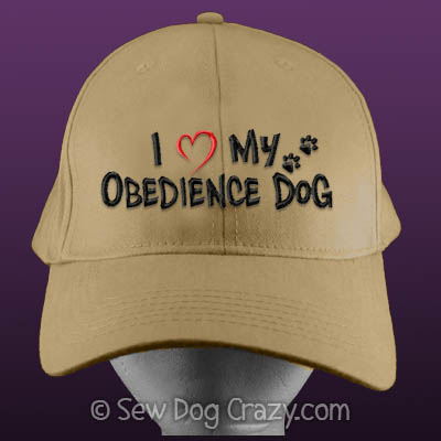 I Love my Obedience Dog Hat