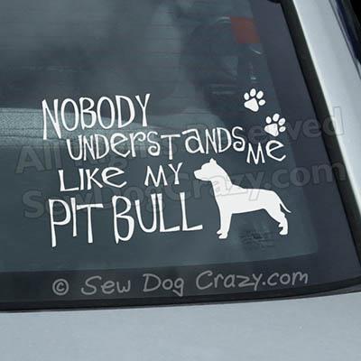 Funny Pit Bull Car Window Sticker