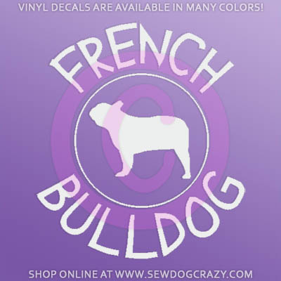 French Bulldog Car Window Sticker