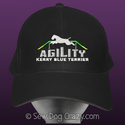 Embroidered Kerry Blue Terrier Agility Hat