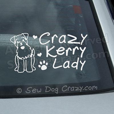 Funny Kerry Blue Terrier Car Window Sticker