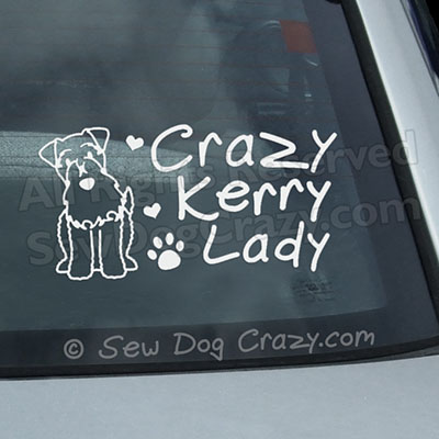 Funny Kerry Blue Terrier Car Window Sticker