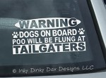 No Tailgating Dogs On Board Sticker