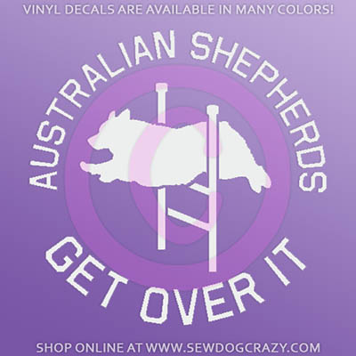 Australian Shepherd Agility Car Decals