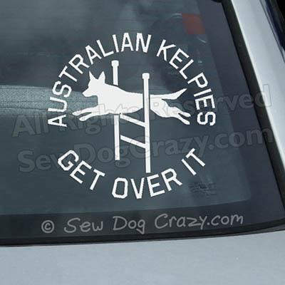 Agility Kelpie Car Window Sticker