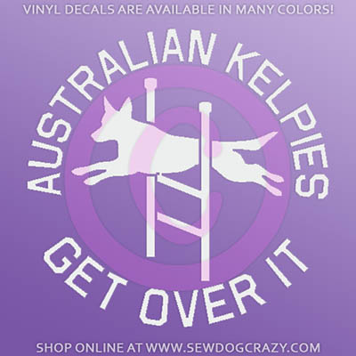 Agility Kelpie Car Decal