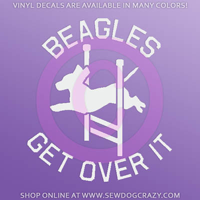 Beagle Agility Car Decal