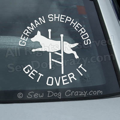 German Shepherd Agility Car Decal