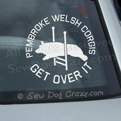 Corgi Agility Car Window Stickers