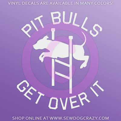Agility Pit Bull Car Stickers