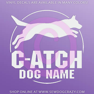 Cattle Dog Agility Title Car Sticker