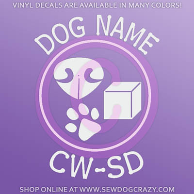 Personalized Nose Work Decal