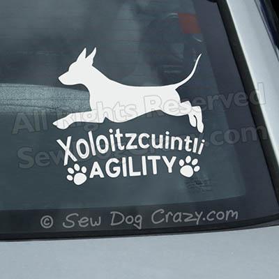 Xoloitzcuintli Agility Decal