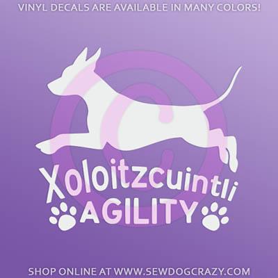 Xoloitzcuintli Agility Sticker