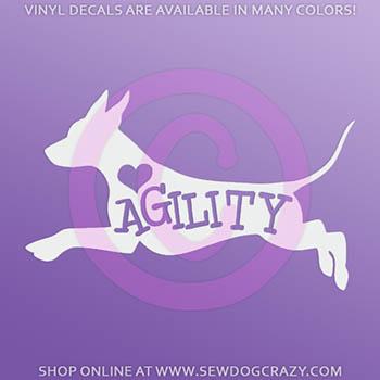 Xolo Agility Car Window Sticker