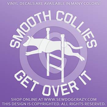 Agility Smooth Collie Vinyl Sticker