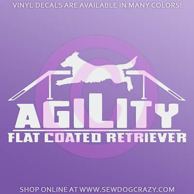Agility Flat Coated Retriever Decals