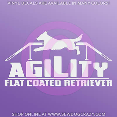 Agility Flat Coated Retriever Decals