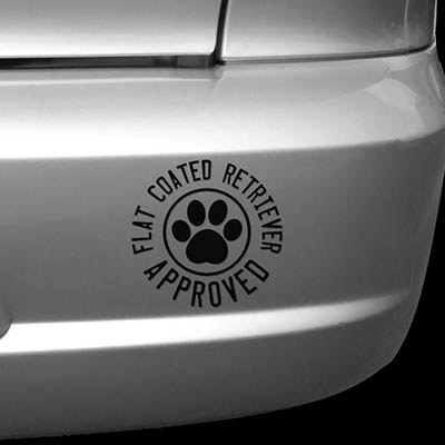 Flat Coated Retriever Approved Car Decal