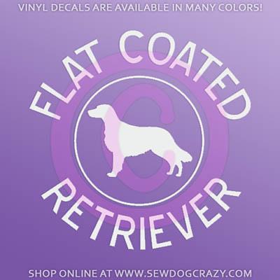 Flat Coated Retriever Decals