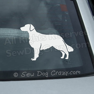 Flat Coated Retriever Silhouette Decal
