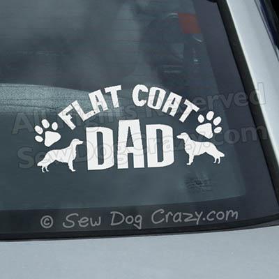 Flat Coated Retriever Dad Car Window Sticker