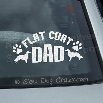 Flat Coated Retriever Dad Car Window Sticker