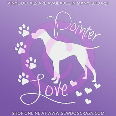 Love Pointers Car Decal