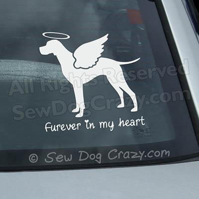 Angel Pointer Car Window Sticker