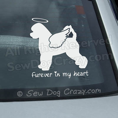 Angel Portuguese Water Dog Car Sticker