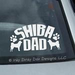 Shiba Dad Car Sticker