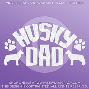 Vinyl Siberian Husky Dad Decals