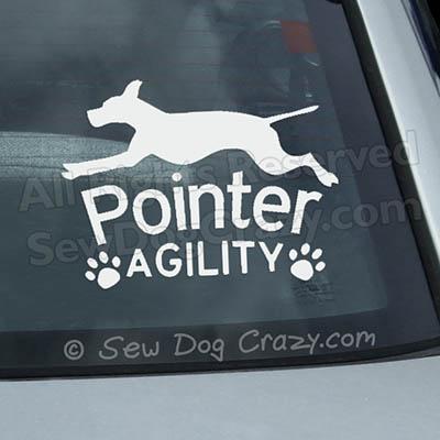 Pointer Agility Car Sticker